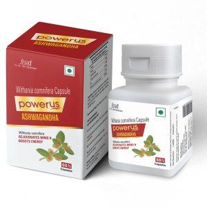 Powerus Ashwagandha To Rejuvenates Mind & Boosts Energy - 60 Capsules