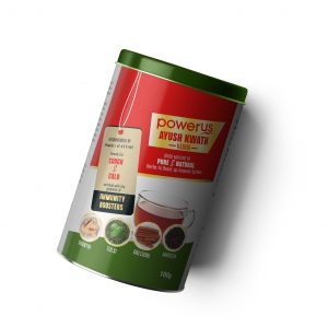 Powerus Ayush Kwath Immunity Kadha for immunity Boosters, recover Cough & Cold - 100gm