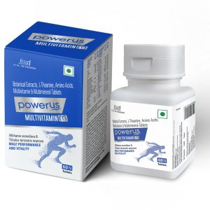 Powerus Multivitamin M With 26 Essential nutrients, 18 Essential Vitamins and Minerals & Botanic extracts - 60 Tablets