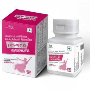 Powerus Multivitamin F With 30 Essential nutrients, 23 Essential Vitamins and Minerals & Botanic extracts - 60 Tablets