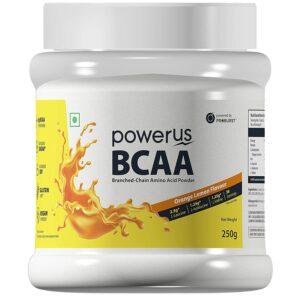 Powerus BCAA Supplement - 250 g (Orange Lemon)